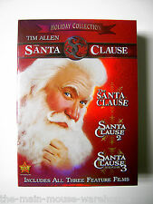 Tim Allen Disney THE SANTA CLAUSE Trilogy Three 3 Movie Collection DVD Box Set