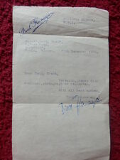 ENTERTAINER BUD FLANAGAN AUTOGRAPHED LETTER 1959