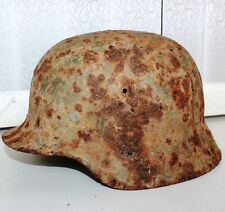 WORLD WAR 2 GERMAN WAR HELMET East front city Mozhaysk 50km from Moscow