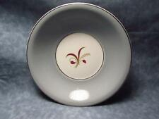 The Harker Pottery Co. 22kt. Platinum Grey Floral Design Soup Bowl L25