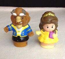 "Fisher Price Little People Disney ""Beauty And The Beast"" Belle & Beast Figures"