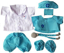 "Doctor Outfit Teddy Bear Clothes Fits Most 14"" - 18"" Build-A-Bear and More"