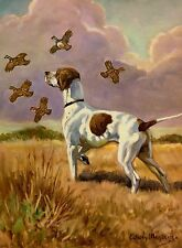 Vintage POINTER Dog Print 1950s Gallery Wall Art Megargee Art 874
