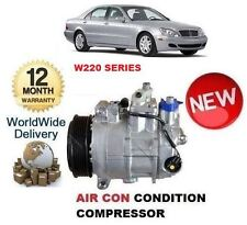 FOR MERCEDES S320 CDi W220 1998-2005 NEW AC AIR CON CONDITIONING COMPRESSOR
