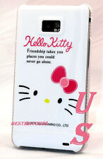 for Samsung galaxy s2 i9100 and i777 hello kitty  case hot pink friendship S II