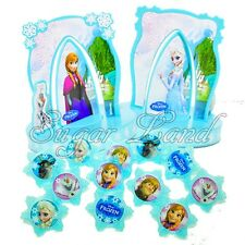 16 pcs Disney Frozen , Cake Decorating Supplies Kit topper, Decoration, Cupcake