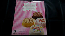 4 CAKE DECORATING ICING STENCILS SWIRLS HEARTS HAPPY BIRTHDAY FLOWERS