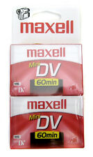 Maxell Mini DV Digital Video ME 60 min Cassette 2 Pack Factory Sealed