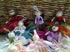 Hand made 5inch flower fairy PERSONALISED gift for mothers day / birthday/easter