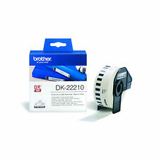 ORIGINALE NASTRO ADESIVO BROTHER DK-22210 29MMX30,48MT PER P-Touch QL1000 Series