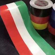 1x Car PVC Body Sticker Italy Flag Stripes Decal Sticker Self-adhesive Removable