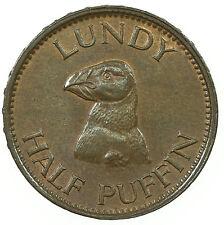 LUNDY, HALF-PUFFIN, MARTIN COLES HARMAN, NEAR UNC, SOME LUSTRE, 1929