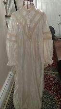 NWT vintage likes Stevens satin brush cotton night gown.size large