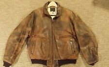 Men's Avirex US Navy G2 1982 Bomber Authentic Vintage Distressed Jacket Size 48