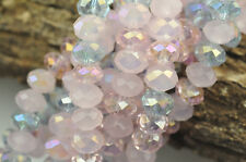 36 Lilac Spring Mix Faceted Crystal Rondelle Beads 8MM