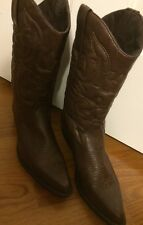 Zune  Canyon Style Mens 11 M Brown Fancy Stitching Saddle Up Cowboy Boots