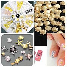 3D Nail Art Decoration Sea World Alloy Jewelry Glitter Rhinestones + Wheel