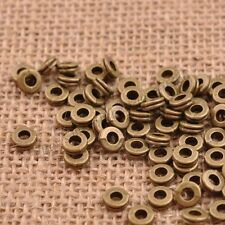 100Pcs TIBETAN SILVER & GOLD & BRONZE Tone Tiny, Charms Spacer BEADS 6MM B3038