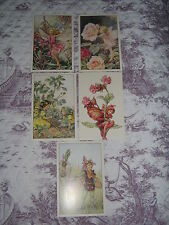 5 x VARIOUS BRAND NEW FLOWER FAIRIES POSTCARDS by Cicely Mary Barker. NEW