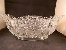 STUNNING VINTAGE CRYSTAL GLASS POSY VASE FRUIT BOWL DISH RUSSIAN???