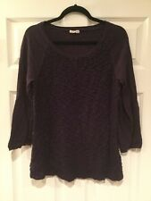 Yellow Bird Anthropologie Purple Crewneck Sweater, Size Large