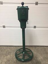 PAR AIDE SINGLE DELUXE GOLF BALL WASHER CLEANER STAND GREEN POLE  FREE SHIPPING