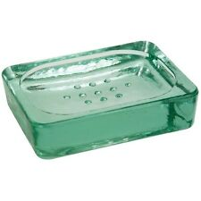 Solid Recycled Green Glass Soap Dish Vintage Style