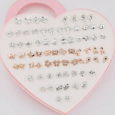 Wholesale LOTS 36 Pairs Mixed Style Crystal Cute earrings ED278