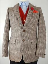 Vtg Mens Harris Tweed Country Hacking Jacket Blazer Chest Size 36""