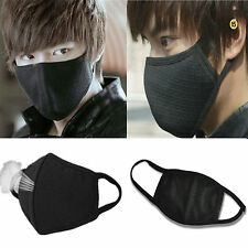 2pcs BLACK Unisex Anti-Dust Outdoor Cotton Cycling Windproof Mouth Face Mask