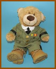 BUILD A BEAR WORKSHOP BROWN TEDDY BEAR WITH U.S.ARMY UNIFORM AND BOOTS