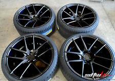 """18"""" Niche Targa M130 Black DDT Staggered Wheels w/ Tires fits Scion XB TC"""