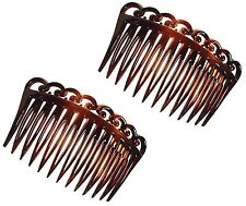 PARCELONA FRENCH SET OF 2 MEDIUM SWIRL OPEN CURVED SHELL SIDE HAIR COMBS