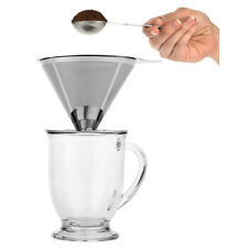 Pour Over Stainless Steel Coffee Dripper Pour Over Cone drip Coffee & Tea Makers