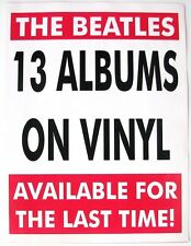 THE BEATLES  Vinyl New Releases 1995 4 page Order Sheet  Capitol Apple