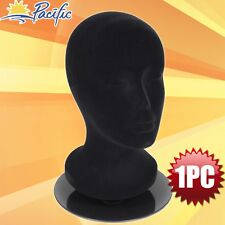 Female foam black velvet MANNEQUIN head holder base display wig hat glasses 11""