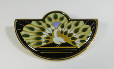 MICHAELA FREY WILLE Brosche brooch PFAU PEACOOK Emaille enamel luxury MF151