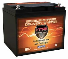 Portable 33 pound marine battery VMAX MR86-50 12V 50AH AGM DEEP CYCLE BATTERY