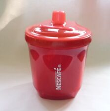 "NESCAFE COFFEE Red Plastic MULTIPURPOSE JAR CUP 4"" 200ml Tall Nestle Malaysia"