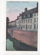 Dixmude Petit Quai Belgium Vintage Postcard 287b