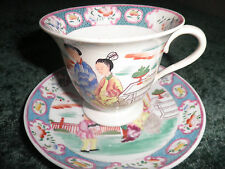 VINTAGE HAND PAINTED JAPANESE CUP & SAUCER - large size