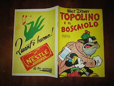 WALT DISNEY ALBO D'ORO N°53 TOPOLINO E IL BOSCAIOLO 1*RISTAMPA 1953