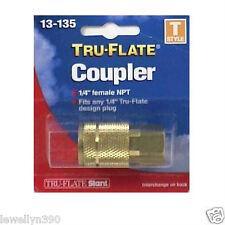 """1/4""""NPT Air Line Quick Coupler """"T"""" Tru-Flate 13135"""