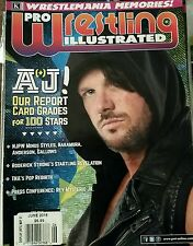 AJ STYLES  PRO WRESTLING ILLUSTRATED MAGAZINE  2016  ON COVER BN IN SLEEVE