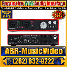 Focusrite Scarlett 6i6 Audio Interface w/ Protools First & Ableton Live Live
