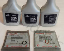NEW GENUINE ACURA Power Steering Pump Oil O-Ring Seals & Fluid - 5 pc Reseal Kit