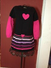 Maggie & Zoe Girls Sz. 2T Heart Theme Sweater Dress Valentine's