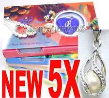SALE 5X Box helix(drop) pendant Natural Pearl Necklace gift set Box -who120_5