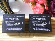 2X Battery for Panasonic Lumix DMC-TZ1 TZ15 DE-A25 CGA-S007E DMC-TZ3K DMC-TZ4S