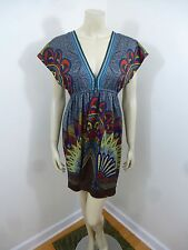 Flying Tomato Anthropologie Multi-Color Cap Sleeve Stretch Woman Dress Size M